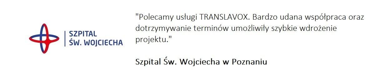 Szpital Św. Wojciecha poleca nasze biuro tłumaczeń